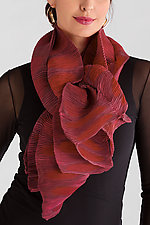 Itajame and Shibori Shawl by Anne Vincent  (Silk Shawl)