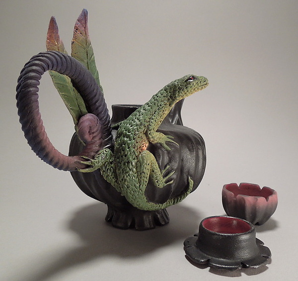 Lone Lizard Tea with Cup