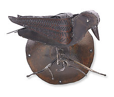 Raven Wall Sculpture by Ben Gatski and Kate Gatski (Metal Wall Art)