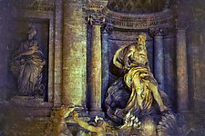 Roma #173v4 Trevi Fountain 2010 by Mel Curtis (Color Photograph)