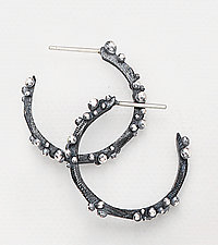 Bumpy Cluster Hoops by Dahlia Kanner (Silver Earrings)
