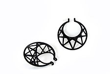 Star Cage Hoops by Maria  Eife (Nylon Earrings)