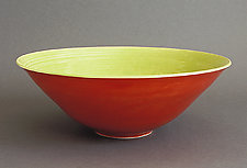 Scarlet & Lime Fruit Bowl by Amber Archer (Ceramic Bowl)