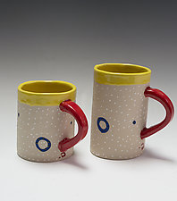 Blue Ring Mug by Vaughan Nelson (Ceramic Mug)