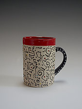 Squiggle Mug by Vaughan Nelson (Ceramic Mug)