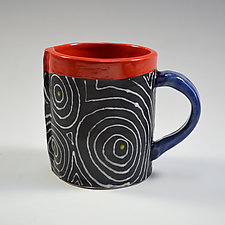 Black Optix Mug by Vaughan Nelson (Ceramic Mug)