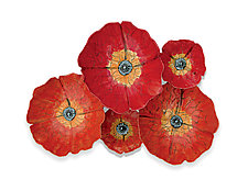 Poppies by Amy Meya (Ceramic Wall Sculpture)
