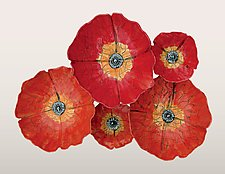 Poppies by Amy Meya (Ceramic Wall Art)