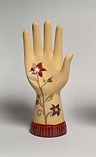 Ceramic Hand Sculpture - Eden by Janna Ugone (Ceramic Sculpture)