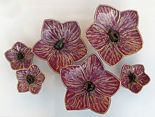 Orchids by Amy Meya (Ceramic Wall Sculpture)