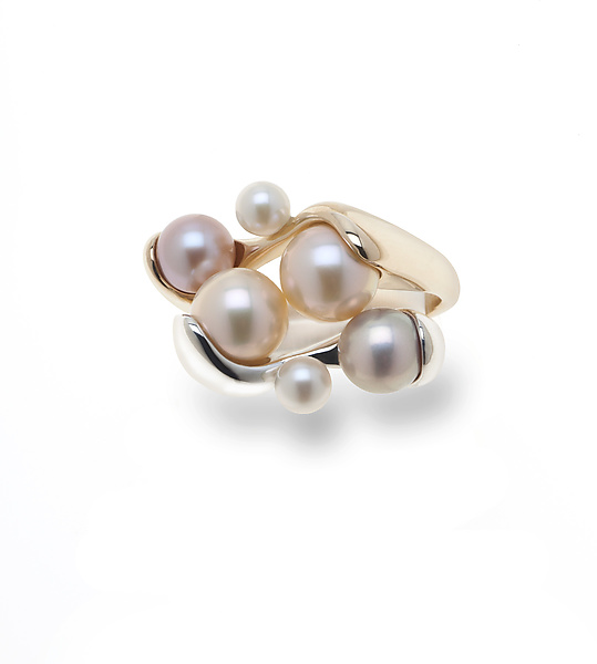 3 Pearl Stackable Rings