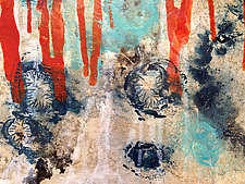 Spores No.4 High Water Line (After Sandy) by Joanie San Chirico (Acrylic Painting)