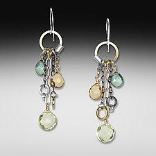 Lemon Quartz Jambalaya Earrings by Suzanne Q Evon (Silver & Stone Earrings)