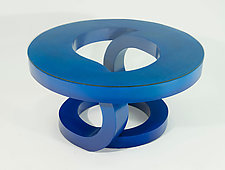 Blue Coffee Table by John Wilbar (Wood Coffee Table)