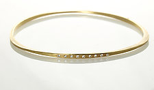 Forged Gold Bangle with Diamonds by Ayesha Mayadas (Gold & Stone Bracelet)