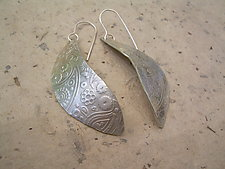Paisley Silver Earrings by Diana Lovett (Silver Earrings)