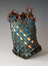 Plaited Basket by Frances Solar (Metal Sculpture)