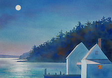 Two Shacks, Full Moon by Suzanne Siegel (Giclee Print)