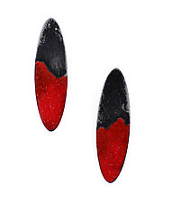 Oval Dip Earrings by Kat Cole (Enameled Earrings)