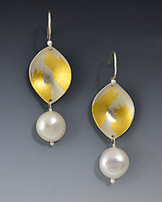 Vermeer Earrings by Judith Neugebauer (Gold, Silver & Pearl Earrings)