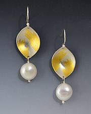 Vermeer Earrings by Judith Neugebauer (Gold, Silver & Pearl Earrings)