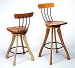 Pitchfork Swivel Chair by Brad Smith (Wood Chair)