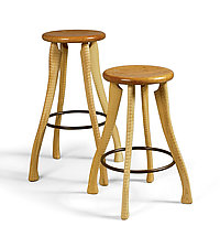 Ax Handle Stool by Brad Smith (Wood Stool)