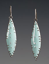 Leaf Earrings by Beth Novak (Enameled Earrings)