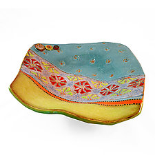 Dreaming of Barcelona by Laurie Pollpeter Eskenazi (Ceramic Plate)