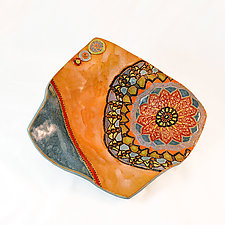 Marrakech Mosaic by Laurie Pollpeter Eskenazi (Ceramic Plate)