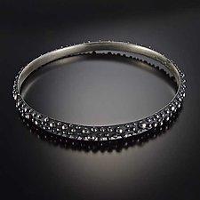 Bumpy Half Round Bangle by Dahlia Kanner (Silver Bracelet)