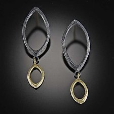 Multi Facet Link Earrings by Dahlia Kanner (Gold & Silver Earrings)