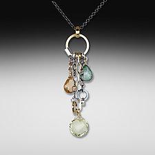 Lemon Quartz Jambalaya Necklace by Suzanne Q Evon (Silver & Stone Necklace)