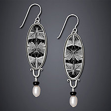 Entymology Earrings by Dawn Estrin (Silver & Pearl Earrings)