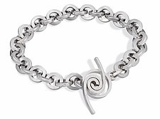 Windswept Toggle with Heavy Weight Chain by Martha Seely (Silver Bracelet)