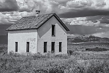 Schoolhouse by J.L. Rodman (Black & White Photograph)