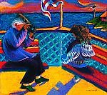 On Casco Bay: Golden Days by Dana Trattner (Giclée Print)