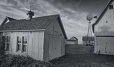 Farm - Rushford, MN by J.L. Rodman (Black & White Photograph)