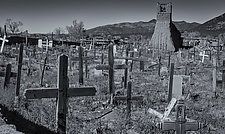 Cemetary - Taos Pueblo, NM by J.L. Rodman (Black & White Photograph)