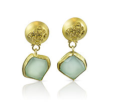 Santorini Earrings by Nancy Troske (Gold & Stone Earrings)