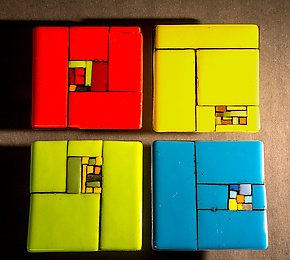 Patchwork by Vicky Kokolski and Meg Branzetti (Art Glass Wall Sculpture)