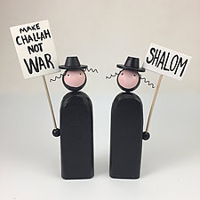 Picketing Rabbis by Hilary Pfeifer (Wood Sculpture)
