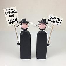 Picketing Rabbis by Hilary Pfeifer (Wood Sculpture)