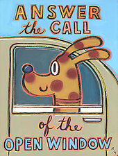 Answer the Call of the Open Window by Hal Mayforth (Giclee Print)