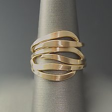 Leaf Stacking Rings by Susan Panciera (Silver Rings)