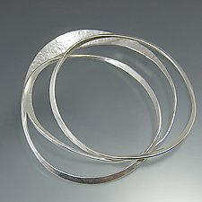 Path Bangle Bracelets by Susan Panciera (Silver Bracelets)