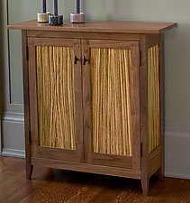 Zebra Side Cabinet by Tom Dumke (Wood Cabinet)
