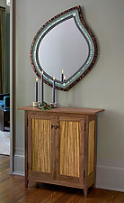 Zebra Side Cabinet by Tom Dumke (Wood Cabinet)