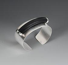 Strength Cuff by Lonna Keller (Silver & Leather Cuff)