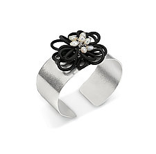 Flower Power Cuff by Lonna Keller (Silver & Rubber Cuff)